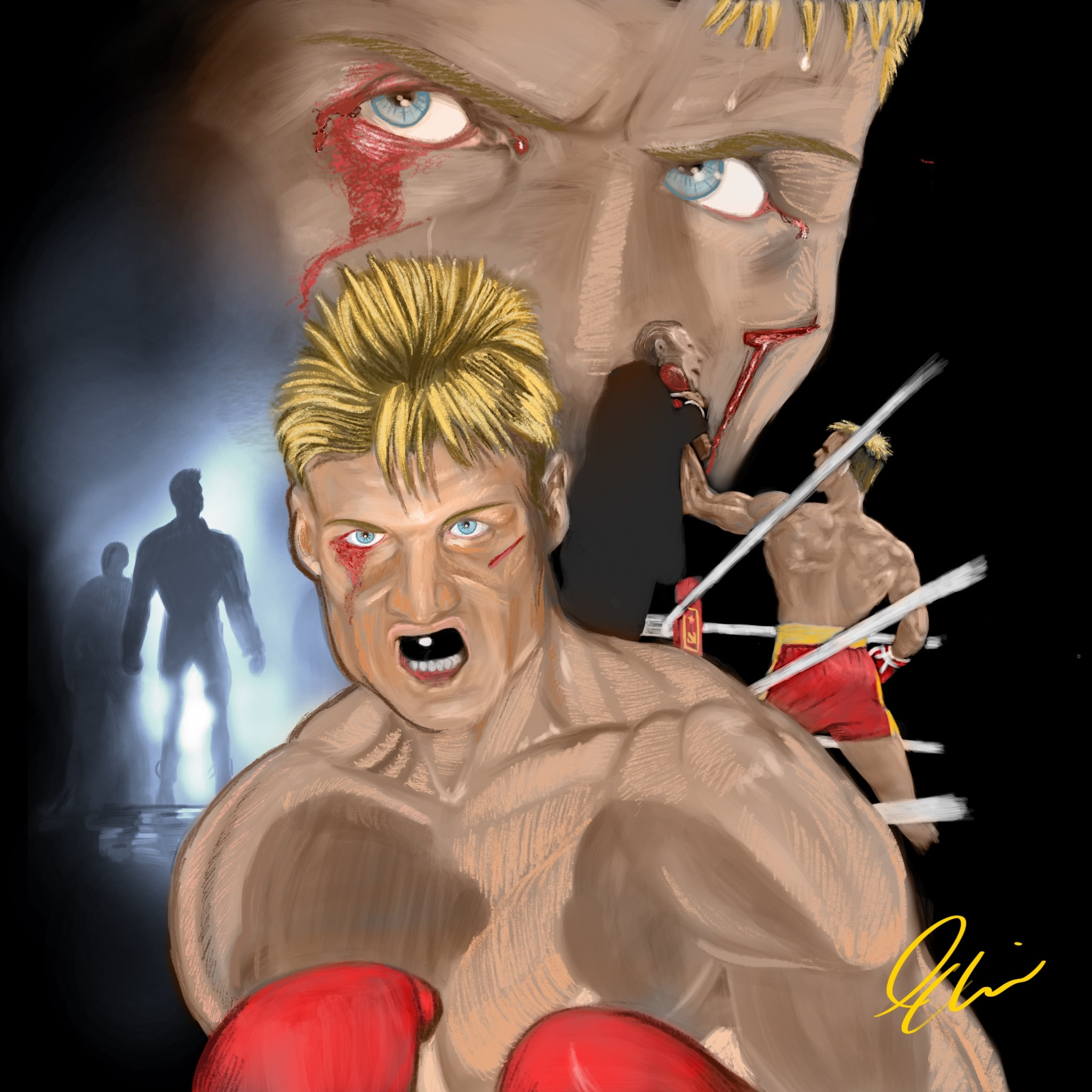 Ivan Drago: I Must Break You Procreate Painting Tutorial
