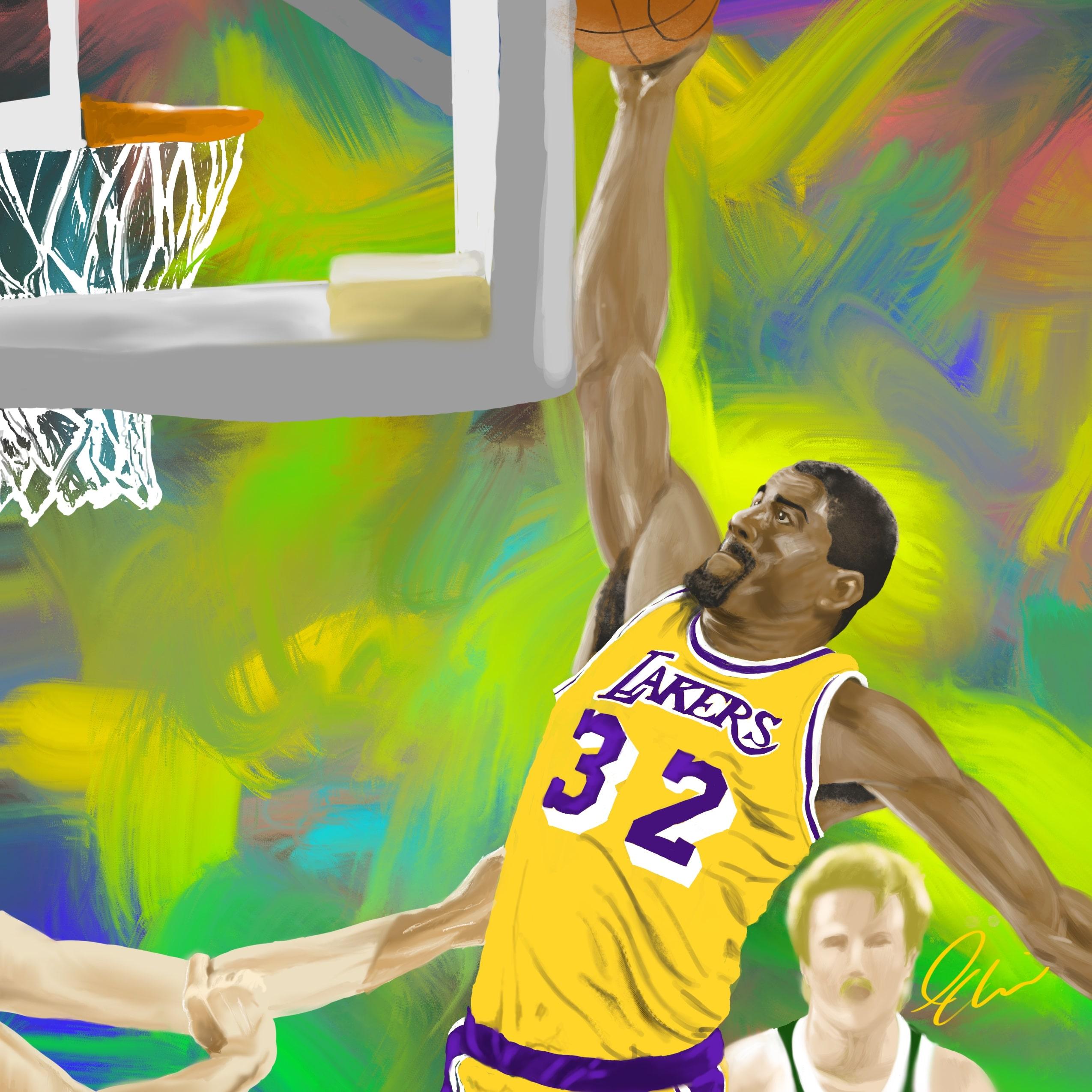 Magic Johnson: Showtime Procreate Painting Tutorial