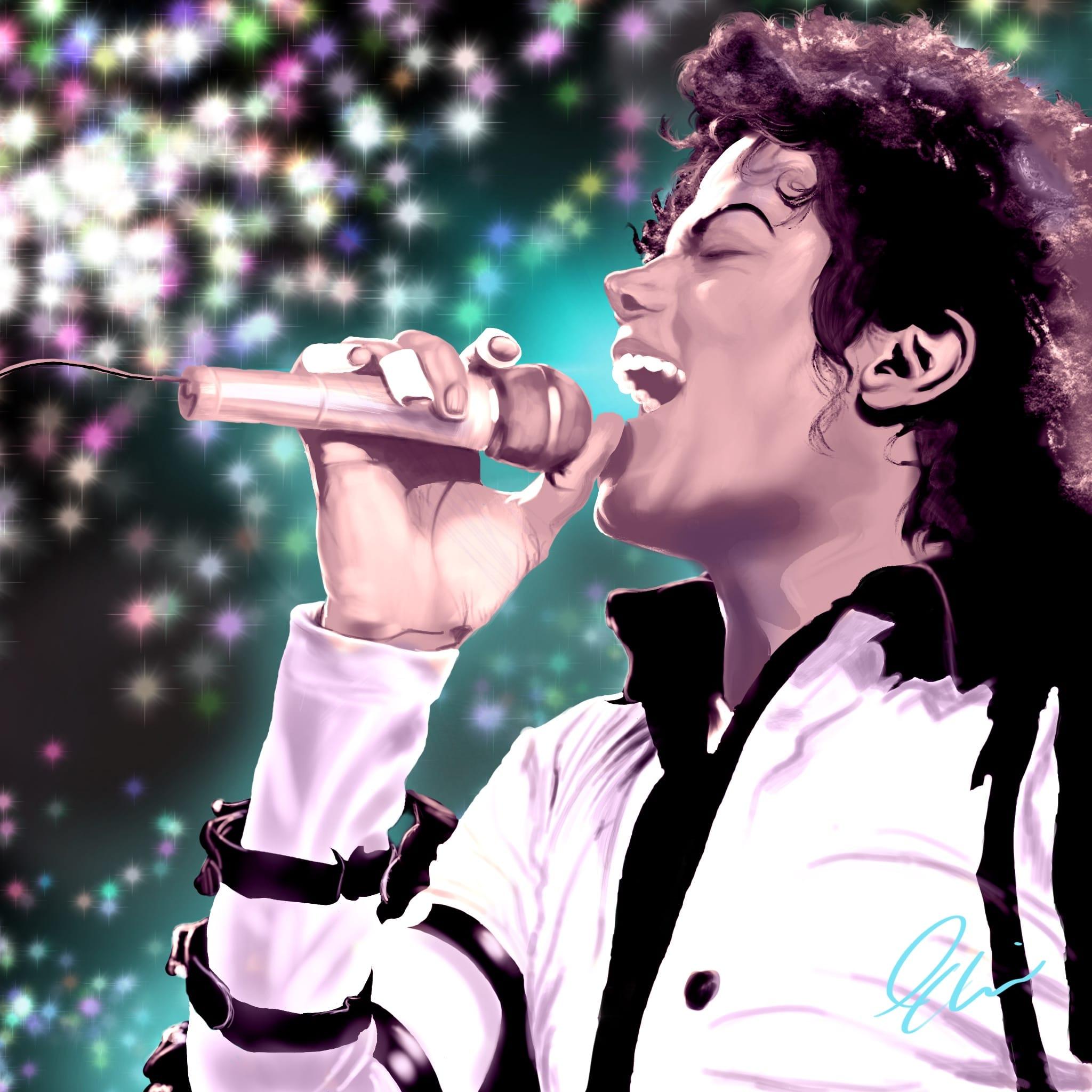 Michael Jackson: Dirty Diana Procreate Painting Tutorial
