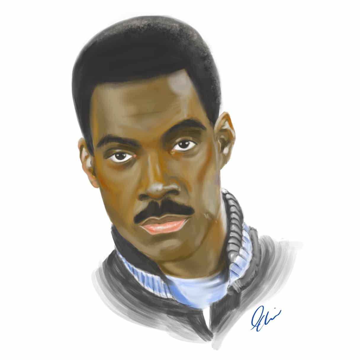 Eddie Murphy: Beverly Hills Cop Procreate Painting Tutorial