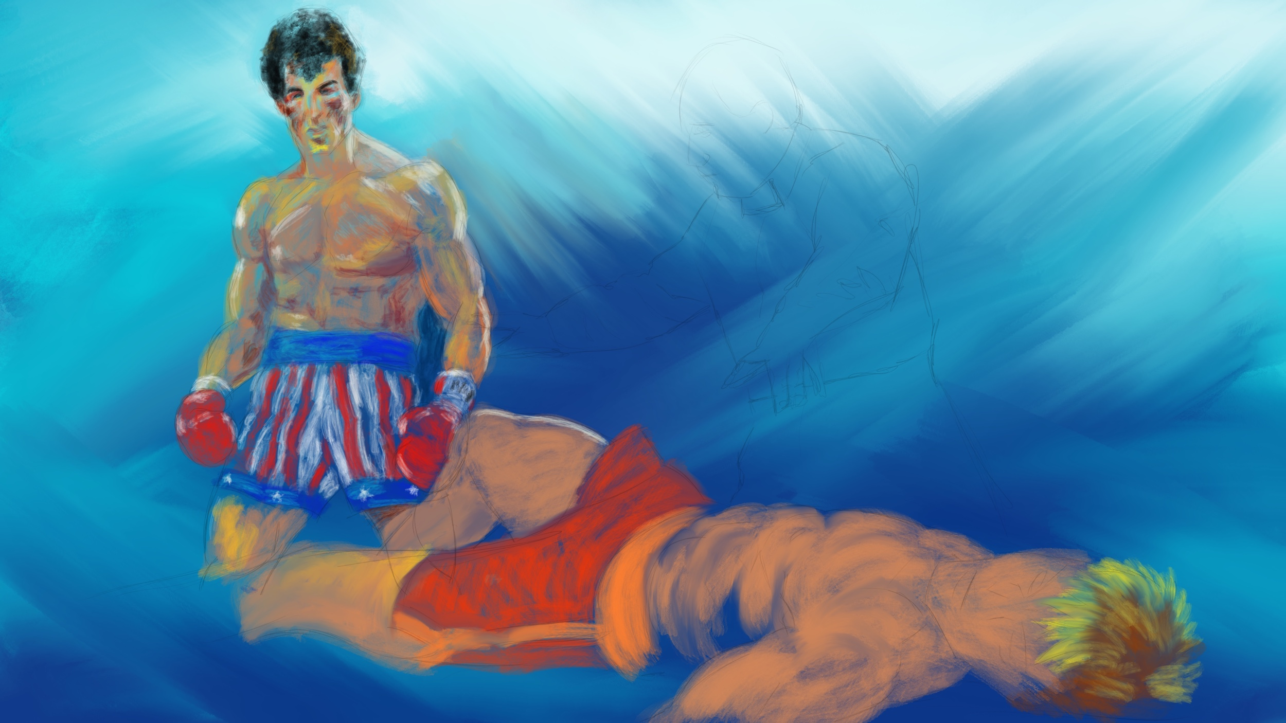 ROCKY IV: LeRoy Neiman Painting Technique – Part 1