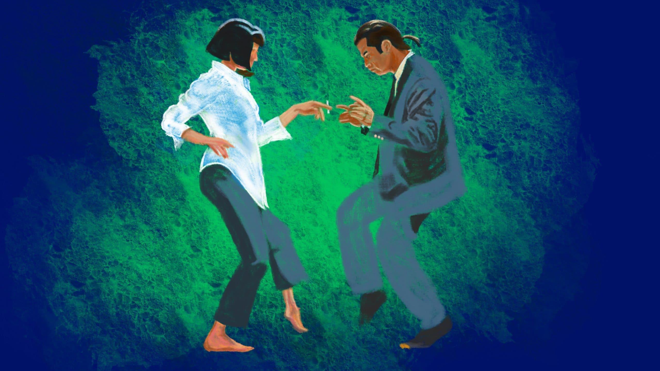 Pulp Fiction: Vincent Vega & Mia Dance Procreate Pastel Tutorial – Part 1